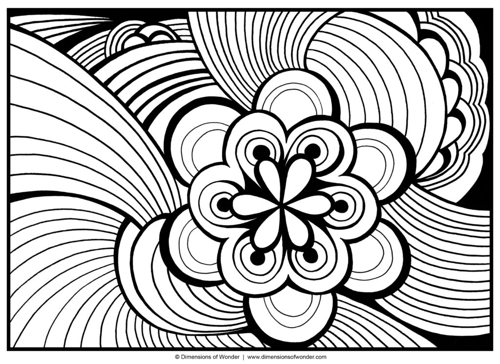 Amazing Of Color Pages For Adults From Coloring With Dementia 1024x745